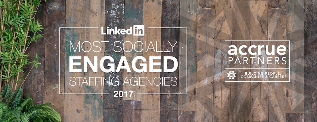 AccruePartners most socially engaged staffing agency