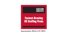 AccruePartners Fastest-Growing US Staffing Firms Award