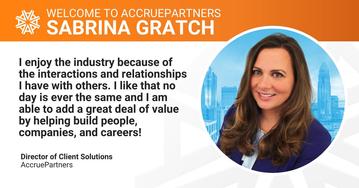Sabrina Gratch | Director of Client Solutions | AccruePartners